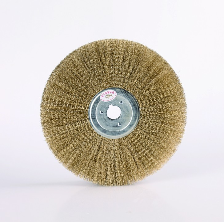 WIDE FACE WHEEL BRUSHES, CRIMPED WIRE