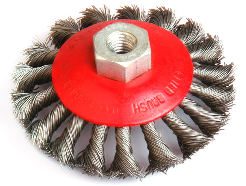 TWIST WIRE WHEEL BRUSHES WITH SHAFT